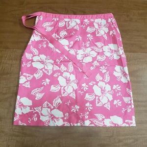Casual Corner Stretch Pink and White Skirt Size 6